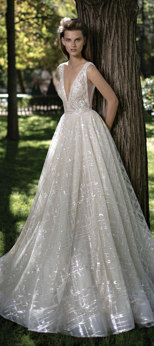 plunging neckline berta bridal